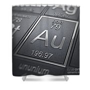 Gold Chemical Element Shower Curtain