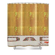 Gold Embossed Foil Art For Dad  Digital Graphic Signature   Art  Navinjoshi  Artist Created Images T Shower Curtain