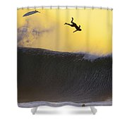 Gold Leap Shower Curtain