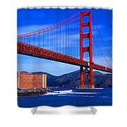 Golden Gate Bridge Panoramic View Shower Curtain