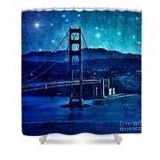 Golden Gate Bridge Night Shower Curtain