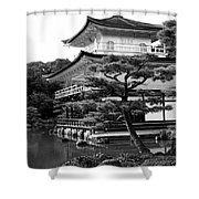 Golden Pagoda In Kyoto Japan Shower Curtain by David Smith