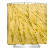 Golden Sand Pattern Created By Surf On Beach Shower Curtain
