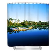 Golf Course At The Lakeside, Regatta Shower Curtain