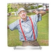 Golf Temper Tantrum Shower Curtain