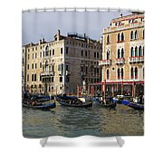 Gondolas In The Grand Canal Shower Curtain