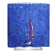 Gone Sailing Shower Curtain
