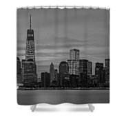 Good Morning New York City Shower Curtain
