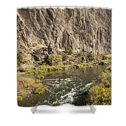Goose Rock Above John Day River Oregon Shower Curtain
