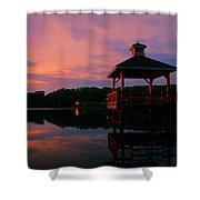 Gorton Pond Sunset Warwick Rhode Island Shower Curtain