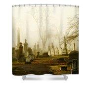 Gothic Autumn Morning Shower Curtain