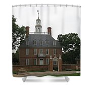 Governers Palace Colonial Williamsburg Shower Curtain