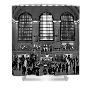 Grand Central Station Bw Shower Curtain