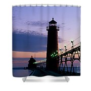 Grand Haven Lighthouse Shower Curtain