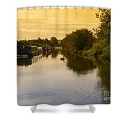 Grand Union Canal In Berkhampsted Shower Curtain