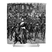 Grant Funeral, 1885 Shower Curtain