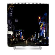 Granville Street At Night Vancouver Shower Curtain