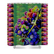 Grapes Fruit Pattern Health Background Designs  And Color Tones N Color Shades Available For Downloa Shower Curtain
