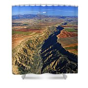 Great Canyon River Gor In Spain Shower Curtain