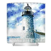 Great Lakes Light II Shower Curtain