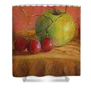 Green Apple Shower Curtain