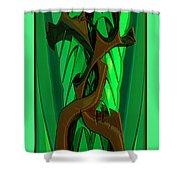 Green Deck 9  Shower Curtain
