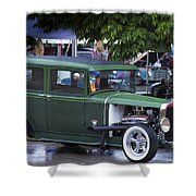 Green Limo Shower Curtain