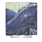 Greyhound Shower Curtain by Lee Ann Shepard