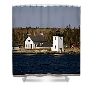 Grindel Point Lighthouse Shower Curtain