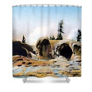 Grotto Geyser Yellowstone Np Shower Curtain