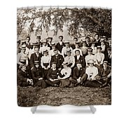 Group Under Tree Shower Curtain