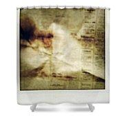 Grunge Newspaper Shower Curtain