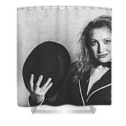 Grunge Photo Of Female Cabaret Performer Shower Curtain