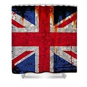 Grunge Union Flag Shower Curtain