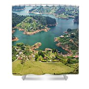 Guatape Lake Shower Curtain