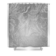 Guatemala Street Map - Guatemala City Guatemala Road Map Art On  Shower Curtain