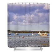 Guernsey Coastline Shower Curtain