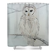 Gufo Bianco Shower Curtain