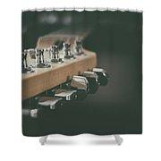 Guitar Head At A Glance Shower Curtain