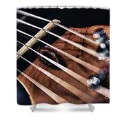 Guitar Strings Shower Curtain by Stelios Kleanthous