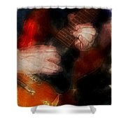 Guitar Traveling Pigments Shower Curtain