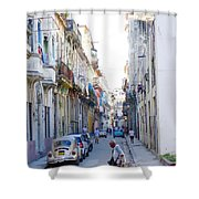 Habana Street Shower Curtain