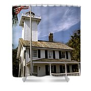 Haig Point Lighthouse Shower Curtain