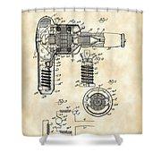 Hair Dryer Patent 1929 - Vintage Shower Curtain