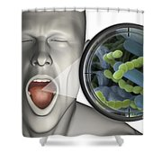 Halitosis Shower Curtain