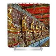 Hall Of Buddhas At Wat Suthat In Bangkok-thailand Shower Curtain