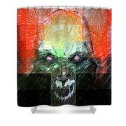 Halloween Mask Shower Curtain