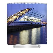 Hamburg Dockland At Night Shower Curtain