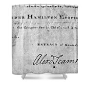 Hamilton: Appointment, 1777 Shower Curtain