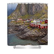 Hamnoy Rorbu Village Shower Curtain